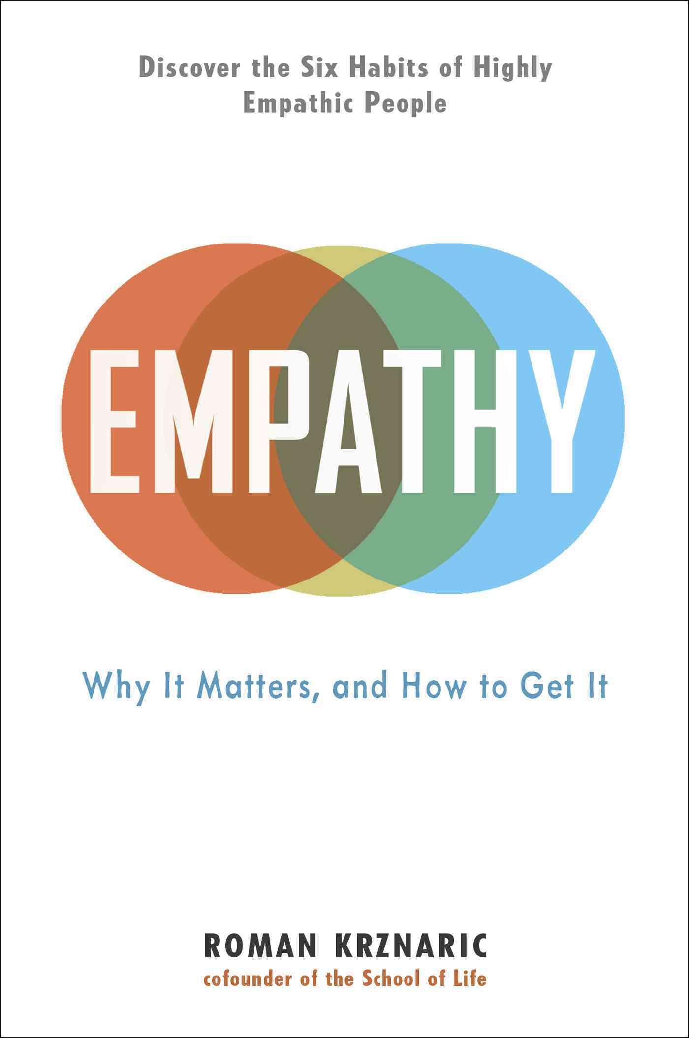 Empathy By Krznaric, Roman